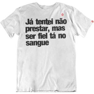 CAMISETA JÁ TENTEI NÃO PRESTAR
