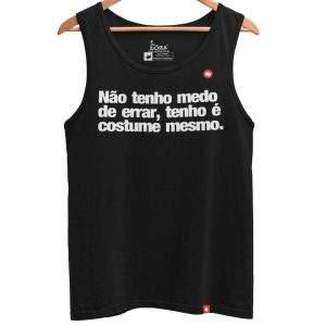 REGATA COM FRASE NÃO TENHO MEDO DE ERRAR